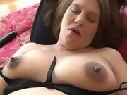 Attractive pregnant girl makes love